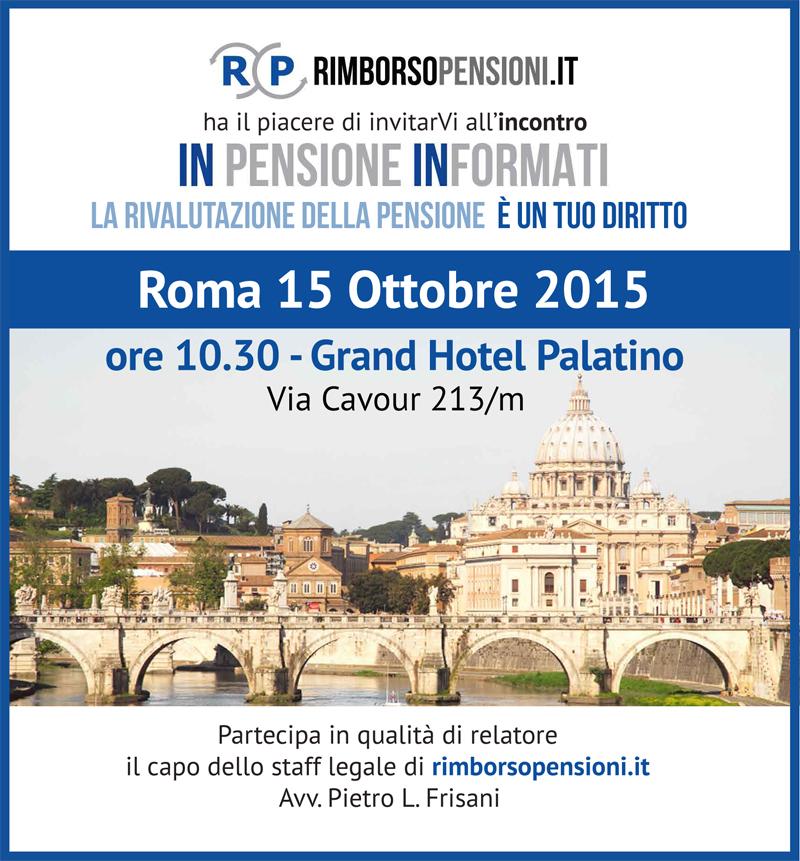 Incontro a Roma con Rimborso Pensioni
