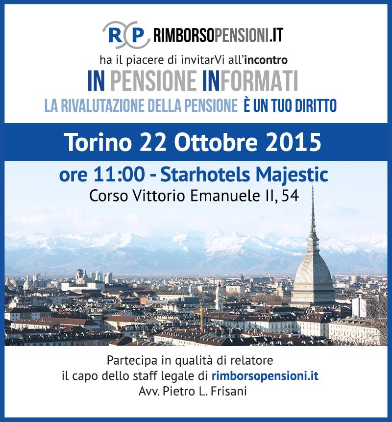 Appuntamento a Torino con In Pensione Informati