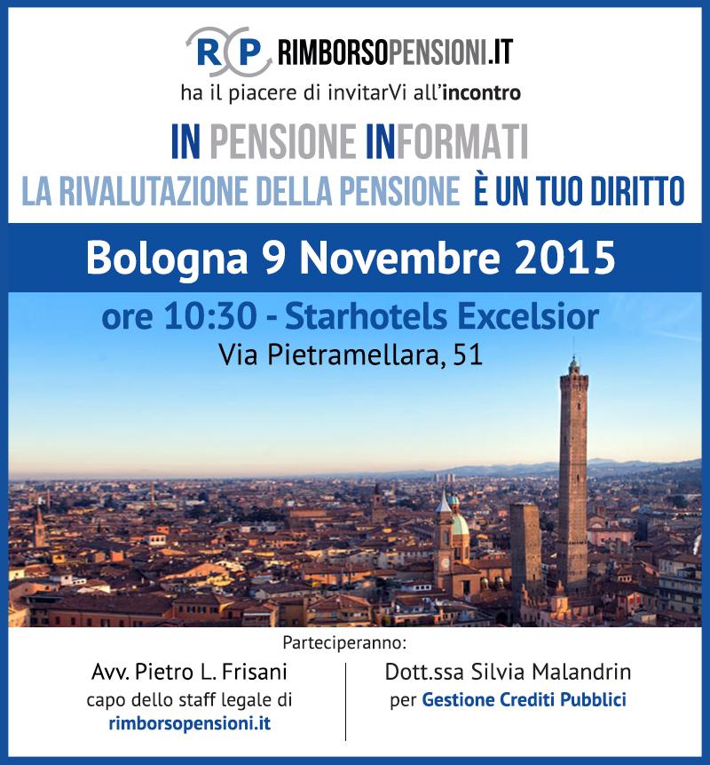 In Pensione Informati 9 Novembre a Bologna
