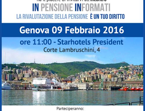 Genova: nuovo incontro di Rimborsopensioni.it