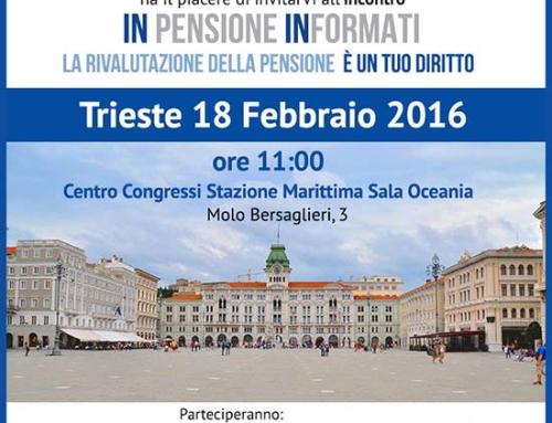 InPensione INformati a Trieste!