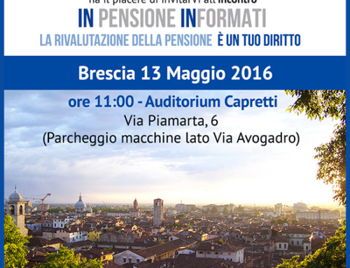 13 Maggio a Brescia: nuovo incontro di Inpensione Informati