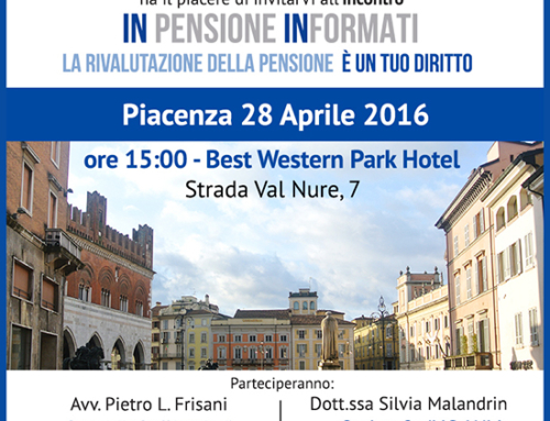 Rimborso Pensioni a Piacenza