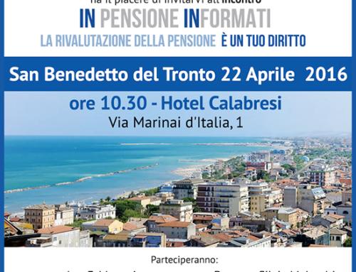 Gli incontri di Rimborsopensioni.it ripartono da San Benedetto del Tronto