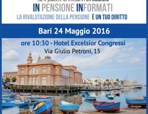 24 Maggio: INpensione INformati a Bari