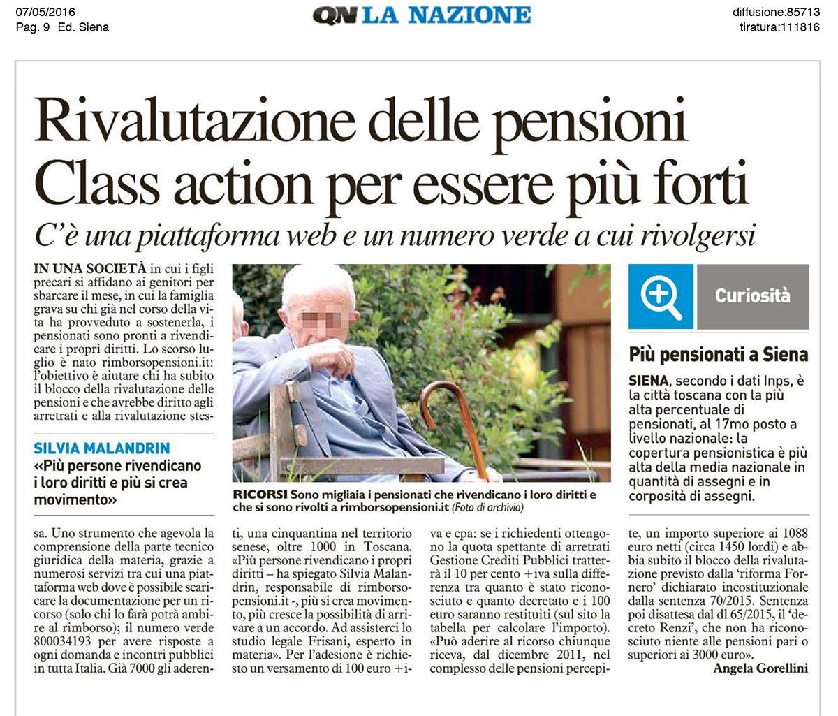 Rivalutazione delle Pensioni Class Action per essere più forti
