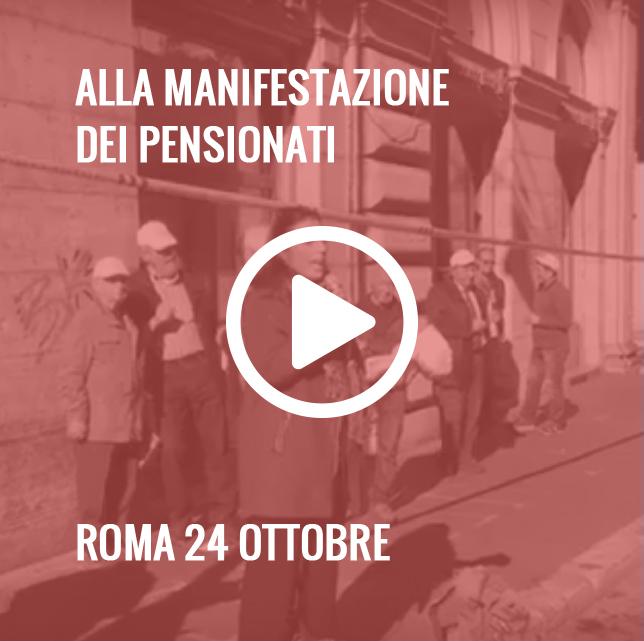 Manifestazione Pensionati a Roma