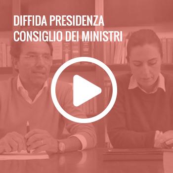 Diffida presidenza consiglio dei ministri