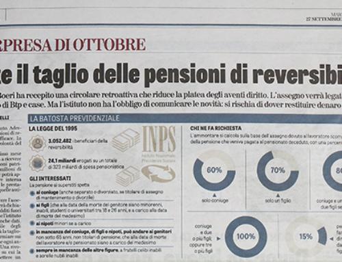 Tagli pensioni reversibilità e il comunicato stampa INPS…