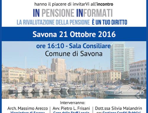 21 Ottobre 2016: INpensione INformati a Savona