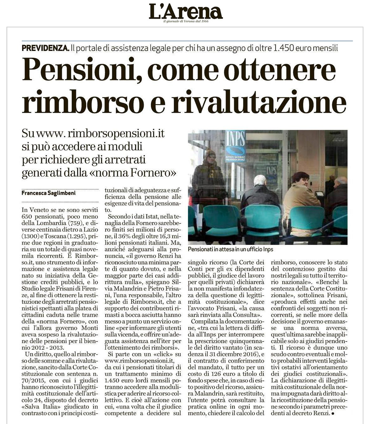 ricorsi pensioni