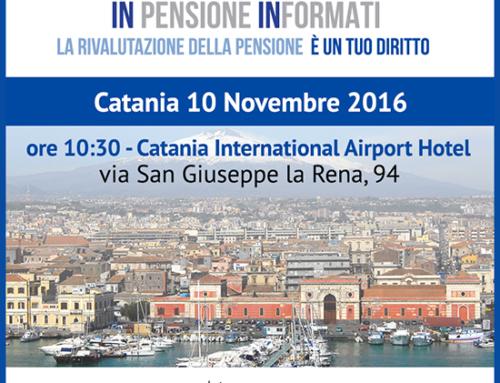 Seconda tappa di InPensione InFormati in Sicilia: Catania 10 Novembre