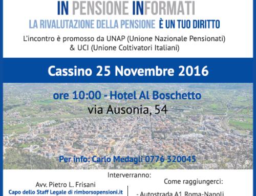 INpensione INformati con Unap e Uci a Cassino