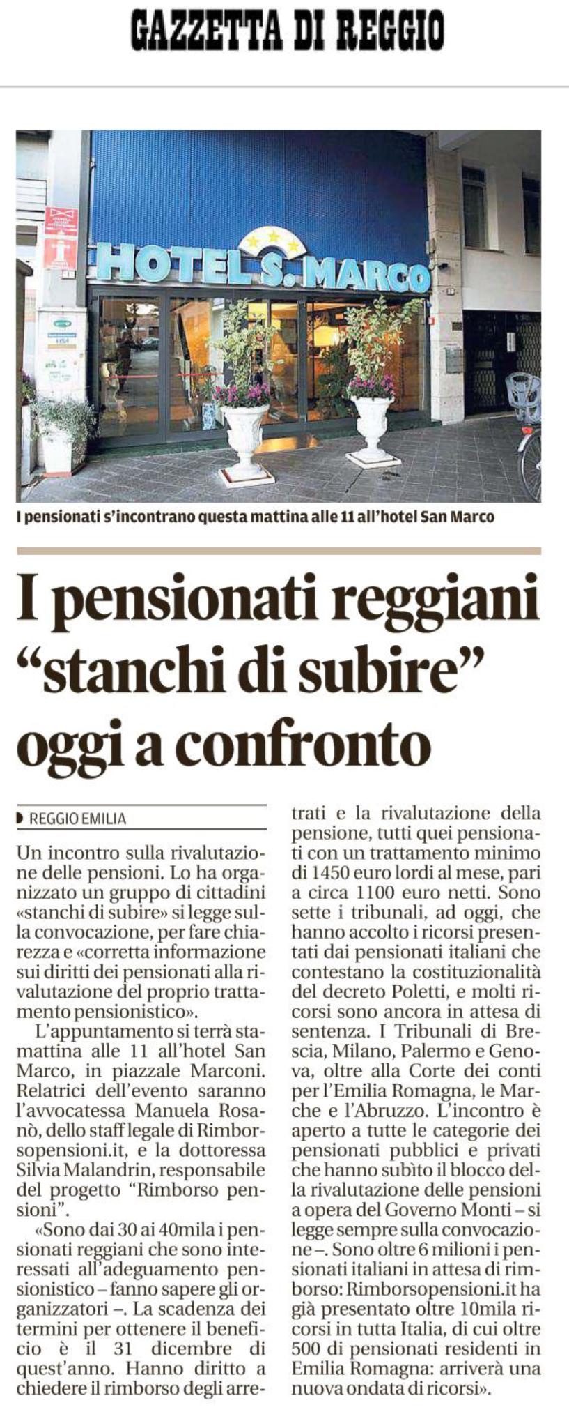 Articolo Sulla Gazzetta di Reggio