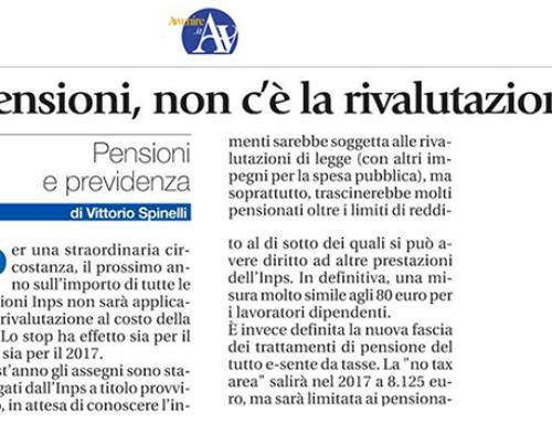 """Commento all'articolo: """"Pensioni, non c'è la rivalutazione"""""""