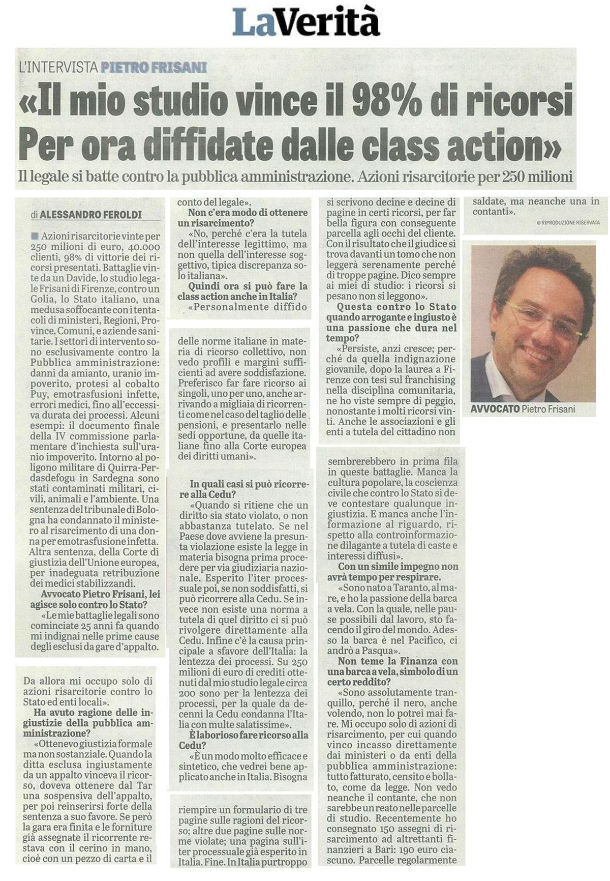 intervista avvocato Frisani